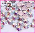 Бесплатная доставка! 288 шт./лот, ss30 (6,3 6,5 мм) Высокое качество Кристалл DMC AB клейкие Стразы/Hot fix Стразы - фото