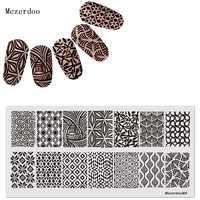 Placa de Hojas de hierba DISEÑO DE estampa de uñas DIY imagen Konad manicura plantillas salón belleza herramienta de esmalte de moda