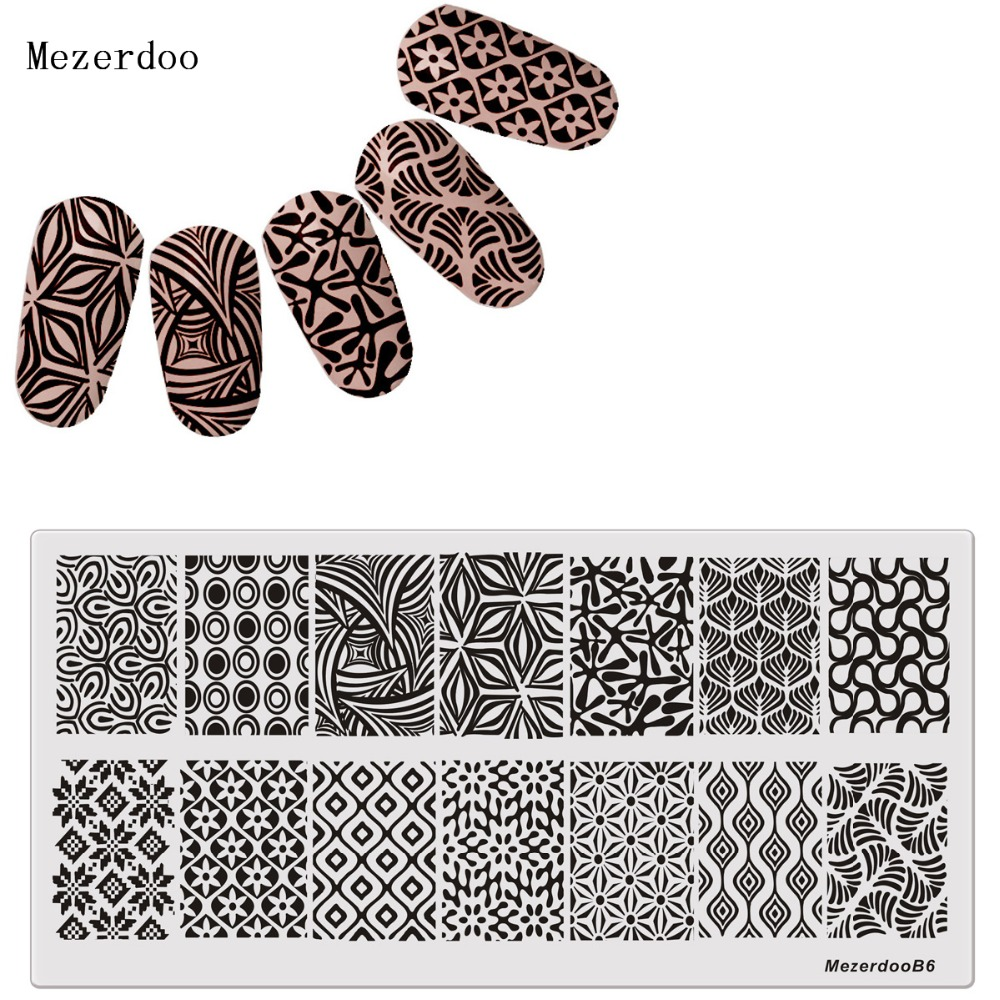 Plate Grass Leaves Design Nail Stamping DIY Bilde Konad Nail Art Manicure Maler Stencils Salon Beauty Polish Tool Fashion