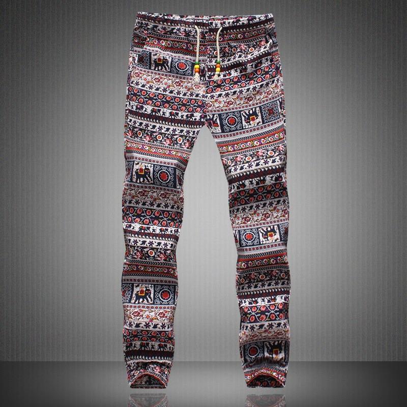 Hombres Joggers 2018 Marca Hombre Pantalones Hombres Lino Pantalones - Ropa de hombre - foto 3