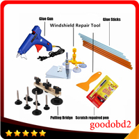Car PDR Tools Paintless Dent Repair Glue Gun Dent Remove Bridge fix it pro Repaire Pen with Windscreen Windshield Repair Kit