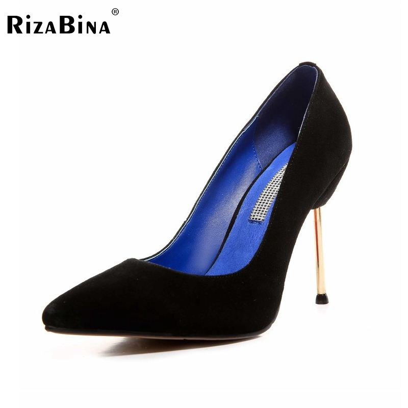 RizaBina ladies pointed toe real genuine leather thin high heel shoes women sexy pumps footwear brand  shoes size 34-39 R08715 size 33 43 r08323 ladies pointed toe real genuine leather flat shoes women bowknot sexy spring fashion footwear brand shoes