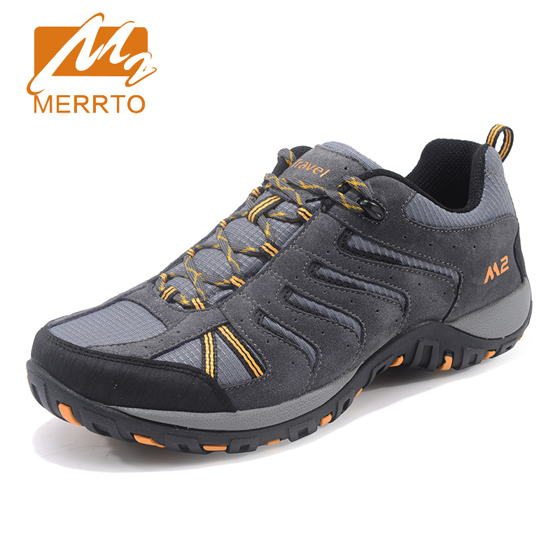 Merrto 2017 Outdoor Walking Shoes Mens Climbing Sports Athletic Shoes Non-slip Breathable Travel Shoes Sneakers For Men MT18692 2018 merrto womens outdoor walking sports shoes breathable non slip travel shoes for women purple rose red free shipping mt18665