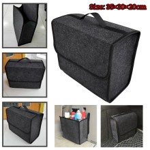 Trunk Organizer Foldable Car Storage Bag Collapsible Cargo Box Soft&Portable(China)