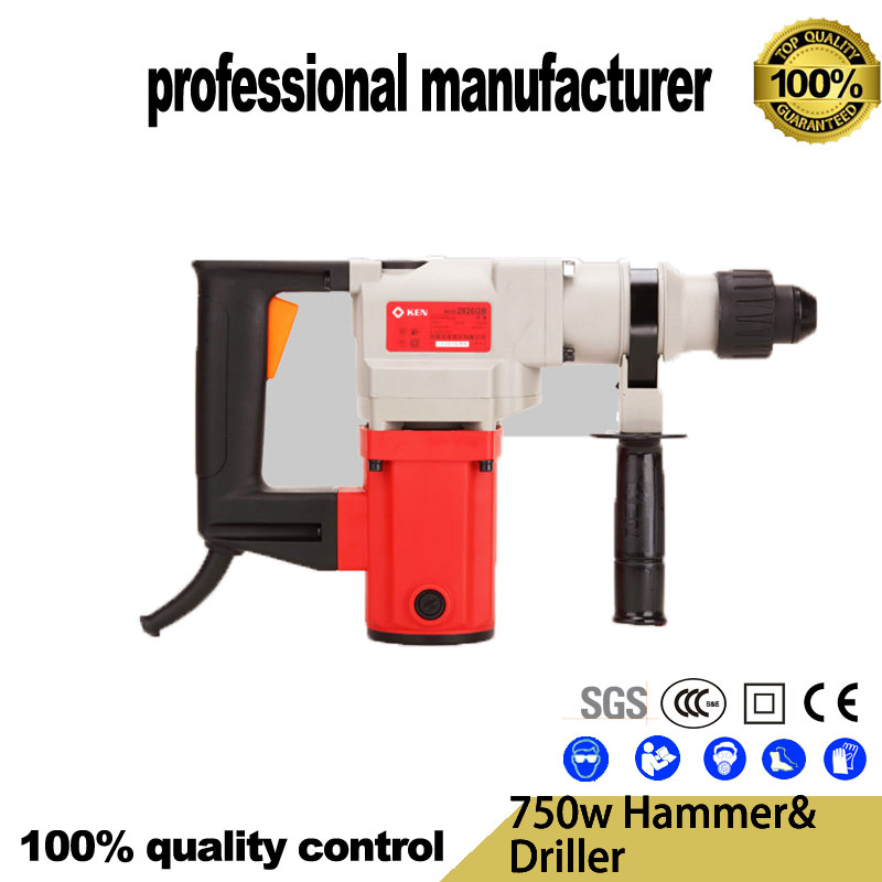 2826G 750w electrical breaker hammer driller tools for wood steel hole for cement broken for home decoration use at good price2826G 750w electrical breaker hammer driller tools for wood steel hole for cement broken for home decoration use at good price