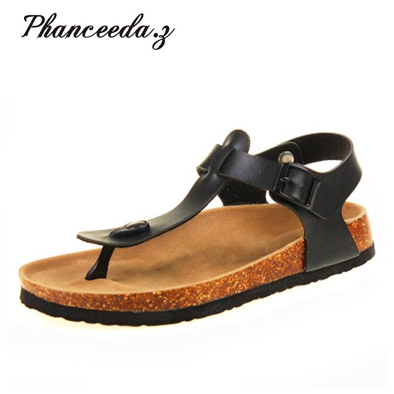 New 2018 Summer Shoes Women Orthotic Sandals Fashion Flats Cork Sandal Good Quality Slip on Casual