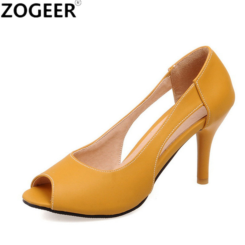 Plus size 48 2017 New Sweet Shoes Woman Summer Fashion Women Sandals Sexy Peep Toe High heel Ladies Pumps brand new hot sexy women sandals black light blue apricot fashion pumps ladies high heel shoes em331 plus big size 4 10 12 43 47