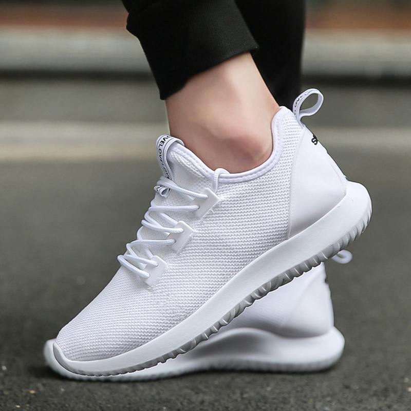 Hot Light-weight Running Shoes Men Sport Shoes SMART CHIP Mens Black Sneakers  Breathable Man Shoes White/Blue mulinsen men s running shoes blue black red gray outdoor running sport shoes breathable non slip sport sneakers 270235