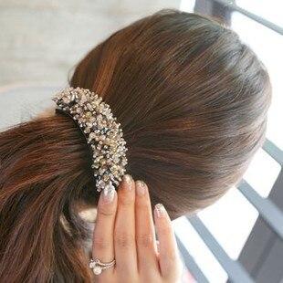 Mp018 perles clip pour cheveux bijoux cheveux accessoires et ornements  cristal barrettes de cheveux griffe queue