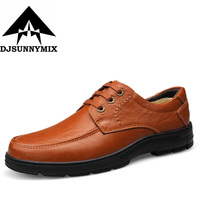 DJSUNNYMIX PLUS SIZE 36 47 Men S Shoes 100 Genuine Cow Leather Handmade Men Flats Loafers