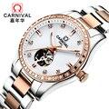 Relojes Mujer 2018 женские часы лучший бренд класса люкс карнавальный победитель часы женские скелетные автоматические механические наручные часы