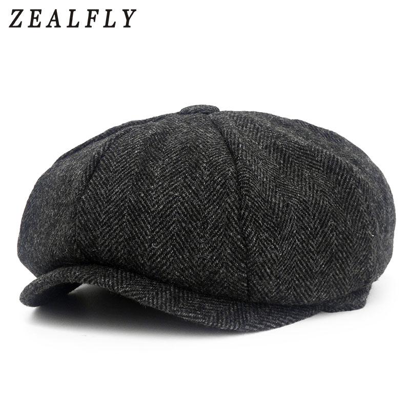 d0ffba732 New Autumn Winter Beret Caps Unisex Mens Hats Cotton Solid Beret Hat ...