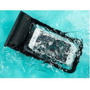 Image 4 - Yeni Xiaomi Yüzmek Su Geçirmez Telefon Çanta Kılıfı Cep Telefonu Çantası Kuru Kayış Ile iphone için kılıf 8 Artı 7 7 P 6 6 s Samsung 6 inç Yüzme