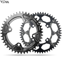 VXM Bicycle Chainwheel 104BCD Round Shape Narrow Wide 30T/32T/34T/36T/38T/40T/42T/46T/48T/50T/52T MTB Crankset Parts