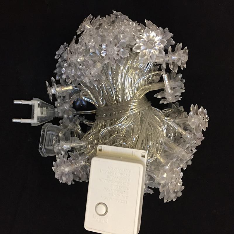 10M 100 LED лотос цветя редица фея - Празнично осветление - Снимка 6