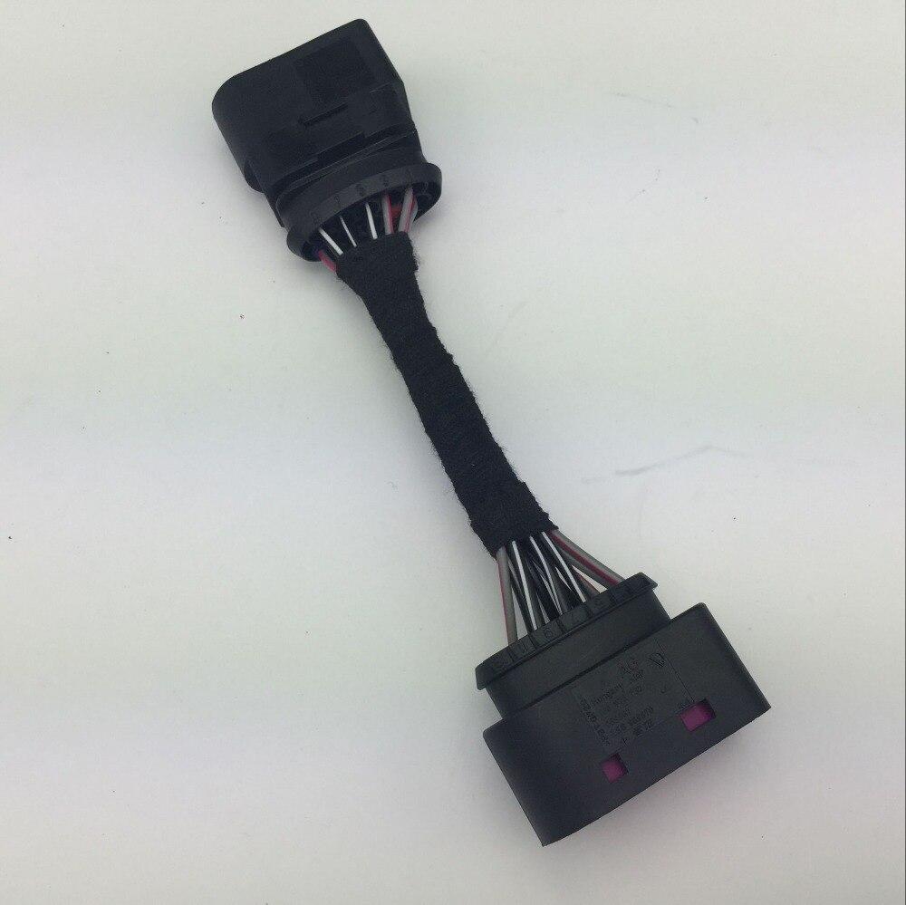 14 9 Pin Xenon Headlamp Headlight Connector Adapter for VW Touran Tiguan Polo Passat B7/B6 Audi A4 Skoda 1J0 973 737/1J0 973 835
