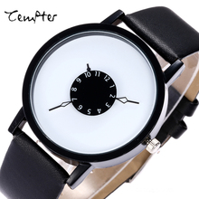 hot deal buy hot fashion creative watches women men quartz-watch 2017 brand unique dial design lovers' watch leather wristwatches clock gift