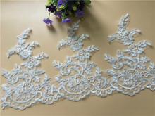 Free shipping 2cm chiffon pearl flower lace sewing material accessories DIY handmade craft  trim