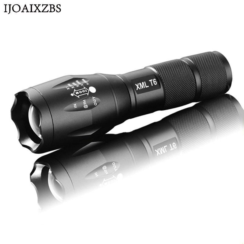 Outdoor Powerful Flashlight Torch  E17 XML T6 5000 Lumens Aluminum Waterproof Zoomable CREE LED Light For 18650 Or AAA Battery high lumens led flashlight cree xm l t6 lantern rechargeable torch zoomable waterproof 3xaaa or 1x18650 battery lamp hand light
