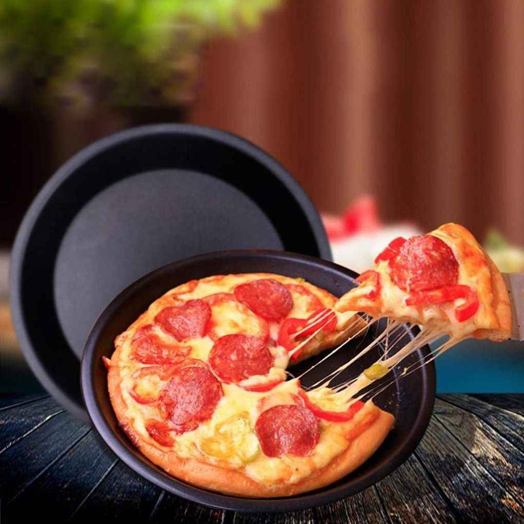 NEW Carbon Steel Non-Stick Pizza Pan Oven Baking Trays Mold Microwave Cake Dish Mould Plate Kitchen Chicken Tools