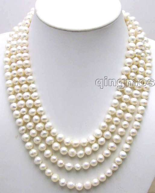 SALE Big 9-10mm Super Long 80 inch  round natural White Freshwater Pearl Necklace-nec1074_10 Free shipping Free shipping