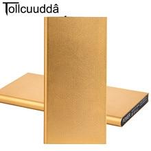 Оригинальный tollcuudda DYCB01 10000 мАч Мощность банк Портативный ультра-тонкий Мобильные аккумуляторы Металл Внешний Батарея Зарядное устройство повербанк Лидер продаж