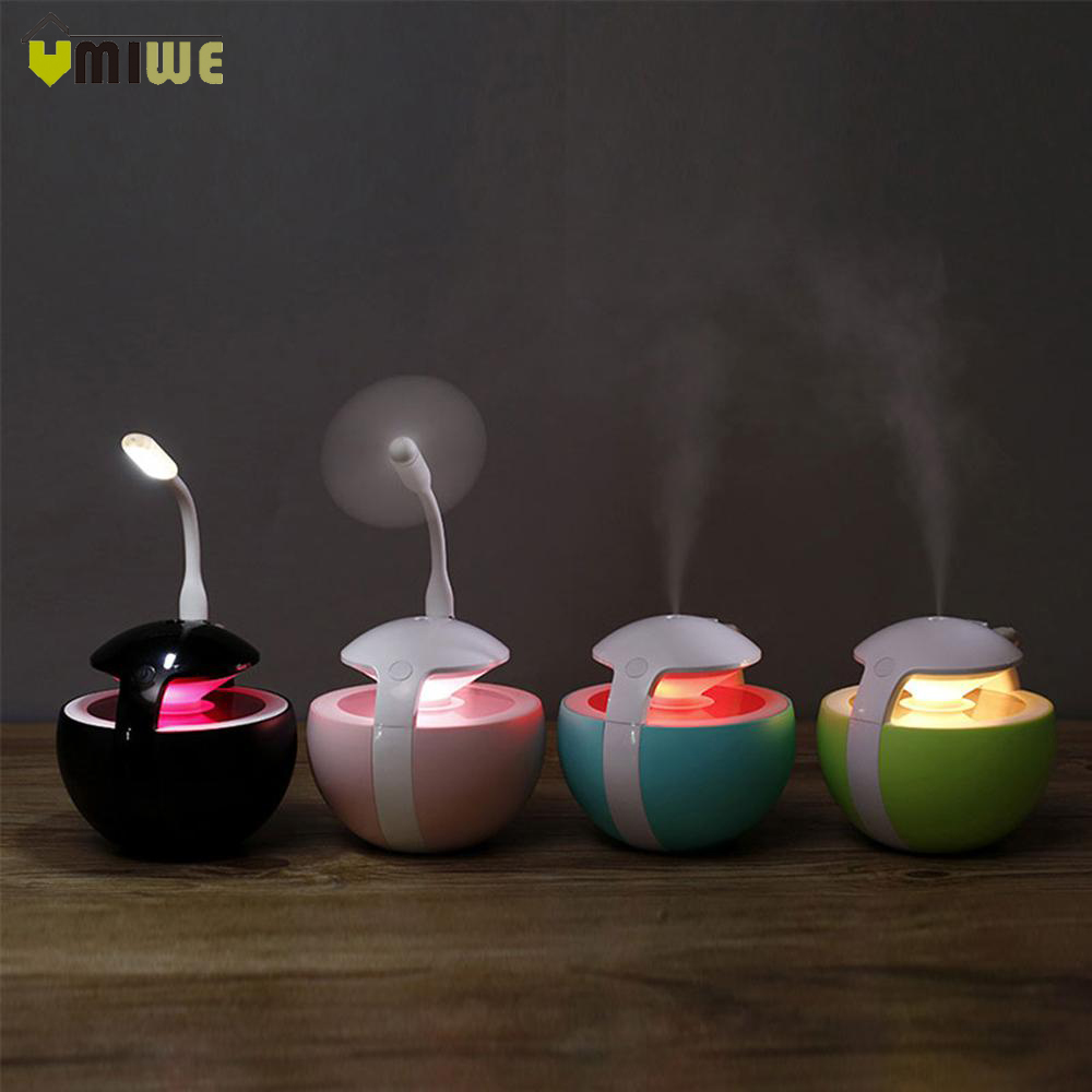Christmas Gift 450ml Ball Humidifier With Aroma Lamp Essential Oil Ultrasonic Electric Aroma Diffuser Usb Air Humidifier Comfortable And Easy To Wear Humidifiers