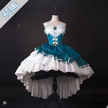 2019 Hot New Vocaloid Cosplay V Girl Snow Miku Star And Princess Costume Dress Blue halloween costumes for women