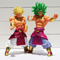 27 cm Dragon Ball Z figuras de acción Super Saiyan Broly juguetes estilo 2 Dragonball Broly figura de acción