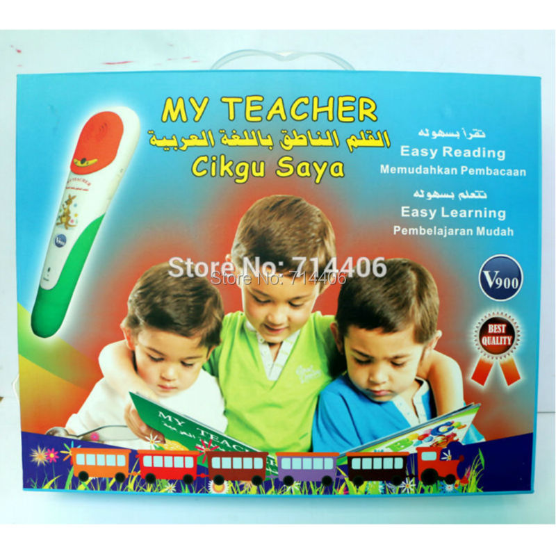My teacher Arabic French Malay and English 4 language reading pen with 8learning books,educational machine children fashion gift easy learning speak french with cdx2