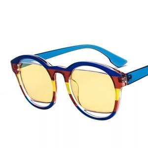 Image 5 - 女性のファッション安いオーバルサングラス緑青黄赤ラウンドビーチデザイナーシェードケースで販売のための女性運転メガネ
