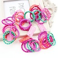 10Pcs/Set Hit color thread Hair Accessories Headband,Elastic Bands For Hair For Girls,Hair Band Hair Ornaments For Kids