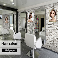 Vintage PVC Wallpapers Rolls Barber 3D Brick Wallpapers Stone Vinyl Stickers for Living Room Bedroom Cafe Home Decor Wall Papers
