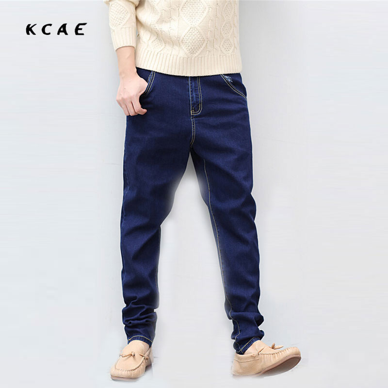 2016 New Men's Clothing Stretch Denim Joggers Jeans Men Cotton Loose Jeans Fashion Harem Pants Plus Size M-6XL Tapered Pants