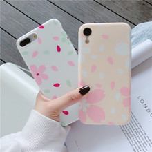 Fashion Petals Phone Case For iPhone 6 6s 7 8 Plus Cute Flowers XS Max XR X Women Silicone Soft TPU Cover