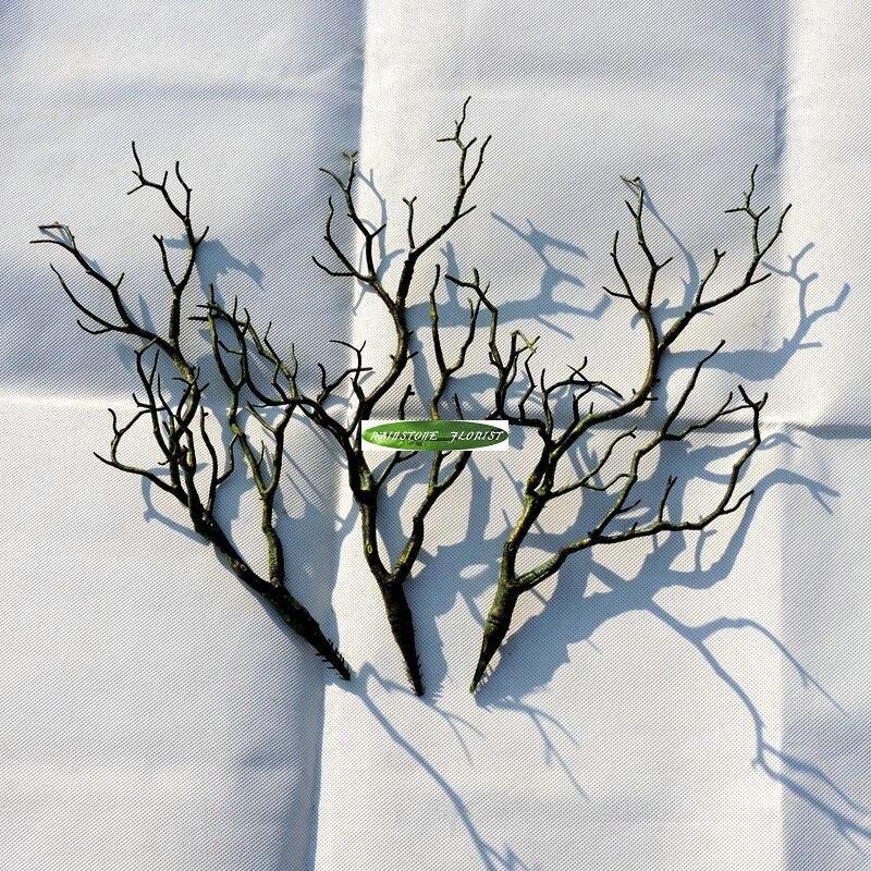 Manzanita коралловые сушеные Искусственные Растения Дерево вилы карликовые деревья филиал поддельные Топиарий листва Свадебный дом сад стол Декор 3 цвета