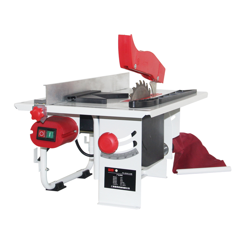 Table Saw 800W 220V Woodworking Desktop Household Mini Chainsaw Dust free Push Table Saw Copper Wire Cutting Machine FS 200