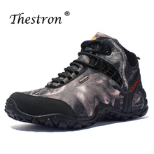 2019 Thestron Man Hiking Shoes Plus Size 40-46 Mens Travel Male Sneakers Outdoor Boots Autumn Winter Rock Climbing