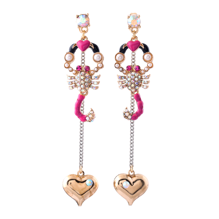 Long Style Personalized Fashion Women Cool Scorpion Earring Pierced Enamel Statement Earring