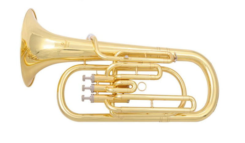 Bb Baritone Horn instruments 3 Pistons baritone with ABS Case and Mouthpiece Instrumentos Musicais Profissionais
