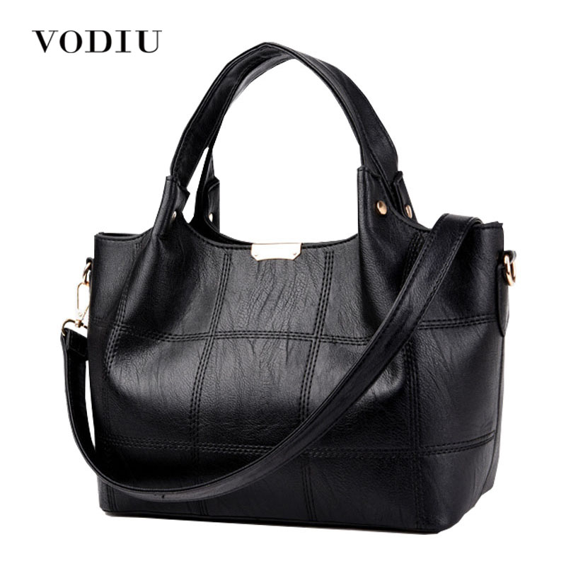 Women Bags Leather Tote Over Shoulder Handbags Sling Messenger Crossbody Black Luxury Designer 2017 New Fashion Female Bolsas