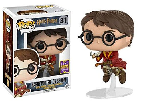 Exclusive Funko pop Official Harry Potter on Broom (2017 Summer Convention Exclusive) Vinyl Action Figure Collectible Model Toy 2017 sdcc exclusive funko pop official harry potter luna lovegood vinyl action figure collectible model toy with original box
