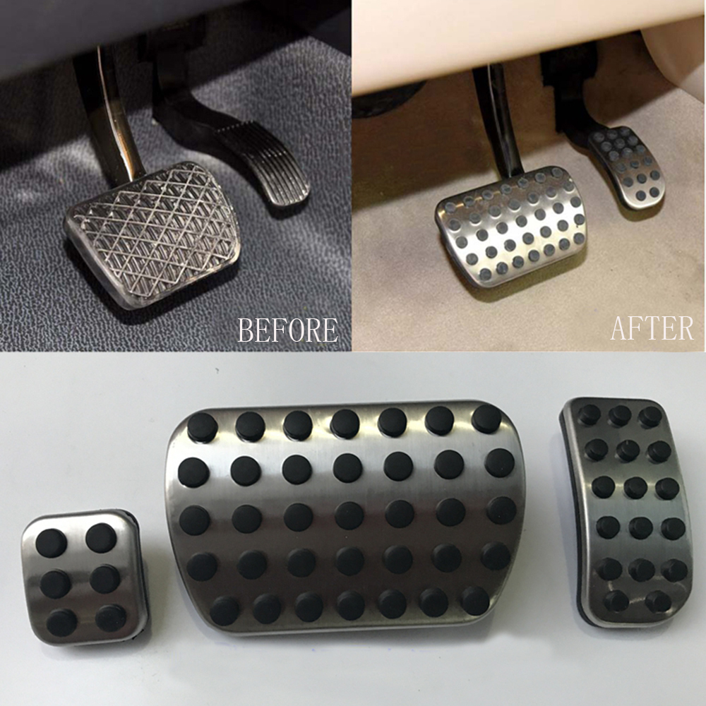 Dee no drill car accessories gas brake pedal cover sticker for Mercedes benz spare parts price list