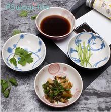 Керамическая тарелка креативная круглая в японском стиле соус