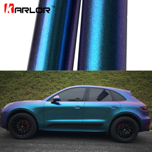 2 м/18 м X 152 см Глянцевый/матовый жемчуг-Хамелеон блестящая виниловая наклейка Фиолетовый Синий Хамелеон автомобиль обёрточная бумага Алмазная виниловая пленка