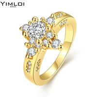 New Fashion Female Skull Black Ring White Gold Filled Jewelry Top Quality Party Engagement Wedding Rings