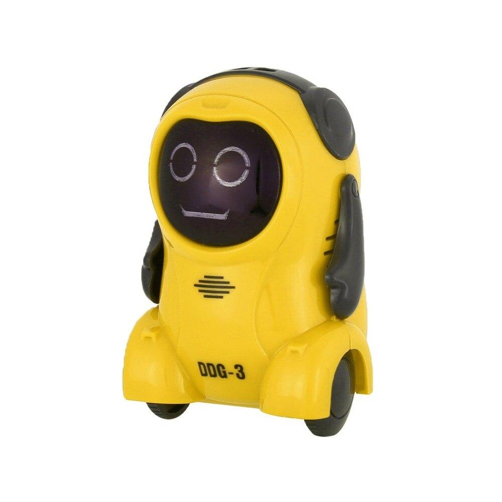 DDG-3 DDG-2 Intelligent Smart Mini Pocket Voice Recording RC Robot Recorder Freely Wheeling 360 Rotation Arm Toys for Kids Gift