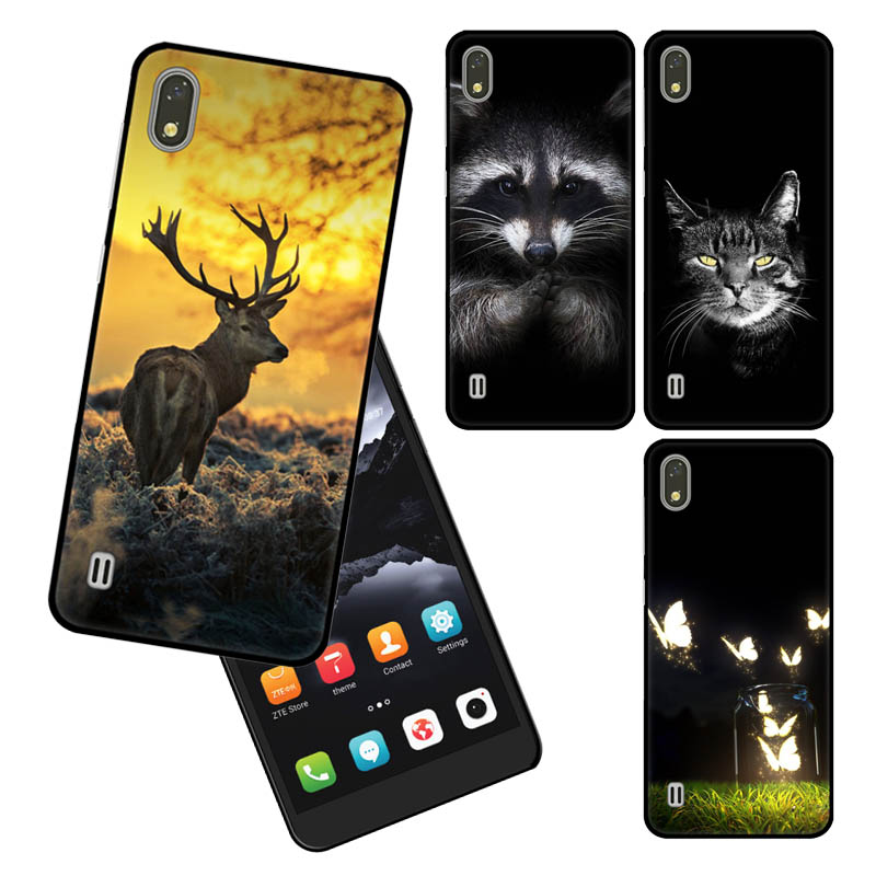 Goterfly Soft Black case cover For ZTE A530 5.45 Cartoon printing phone Blade A606 Case Phone Back Cove