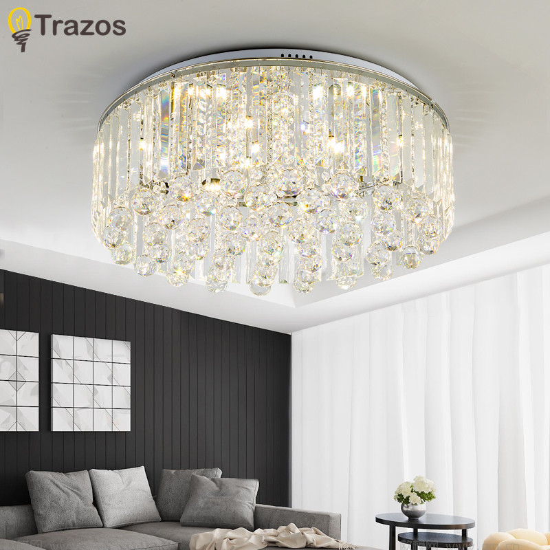 Modern Ceiling Lamp Crystal Living Room Foyer Light Home Lights Lustre Fixtures Restaurant Luminarias Luxury Ceiling Light