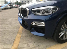 Lapetus ABS Car Styling Chrome Bright Style Front Fog Lights Lamp Frame Cover Trim 2 Pcs / Set Fit For BMW X3 G01 2018 2019